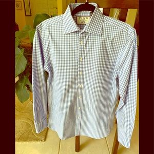 Thomas Pink Blue/White dress shirt 15, 33 1/2